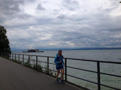 Achenbach-König genoss den Lauf rund um den Bodensee, für den sie 23 Stunden und 35 Minuten benötigte.