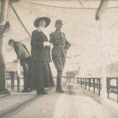 """<p class=""""solobild"""">Am 5. Juni 1917 besuchten Kaiser Karl und Kaiserin Zita Vorarlberg. Ein Höhepunkt der Reise war eine Ausfahrt auf der """"Franz Josef I."""" Kaiser Karl soll von der lieblichen Landschaft um den Bodensee begeistert gewesen sein.</p>"""