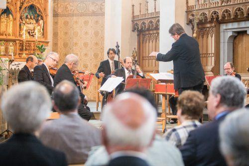 Barockensemble der Wiener Symphoniker unter Christian Birnbaum in der Pfarrkirche Schwarzach. Foto: Sams