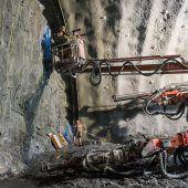 Halbzeit beim Tunnel auf Weltrekord-Niveau