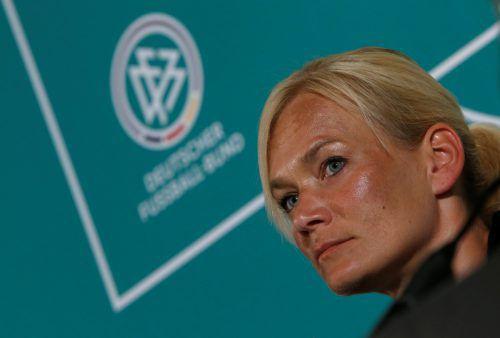Bibiana Steinhaus ist die erste Schiedsrichterin im deutschen Profifußball, die Spiele im Männerbereich leitet.Foto: AFP