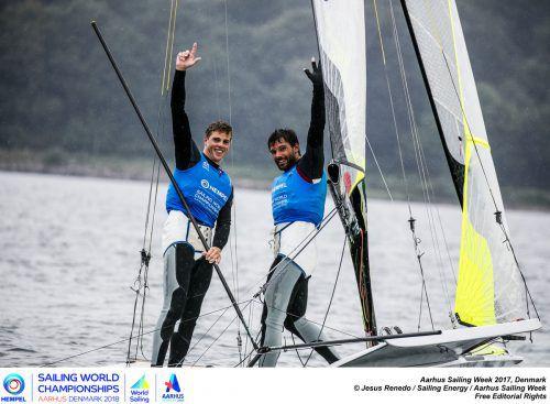 Bildstein/Hussl siegten beimWM-Testevent.Foto: renedo