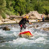 Stand Up Paddling auf See und Bregenzerach