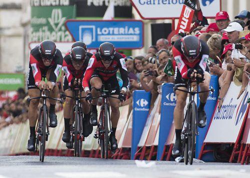 Das BCM-Team startete mit einem Sieg beim Mannschaftszeitfahren in die 72. Vuelta a España.Foto: apa