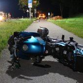 Vier Tote bei Motorradunfall