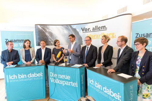 Das neue Team der Vorarlberger Volkspartei ist bereit für den Wahlkampf.  foto: stiplovsek