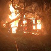 Leer stehendes Haus brannte völlig nieder