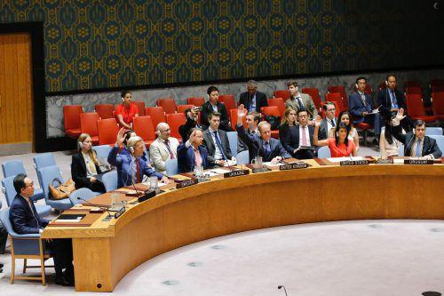 Das Votum im Sicherheitsrat, dem höchsten UN-Gremium, erfolgte einstimmig.Foto: AFP