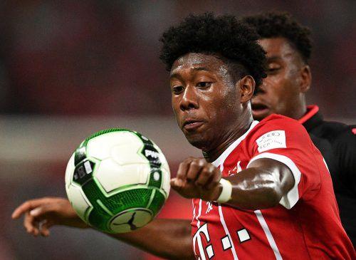 David Alaba wird im Cup für den FC Bayern zum Einsatz kommen.afp