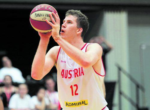 Der NBA-Legionär im Österreich-Dress: Für Jakob Pöltl machen die Einsätze mit dem Nationalteam Sinn.Foto: gepa