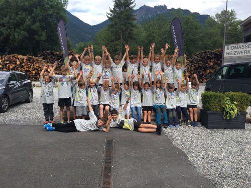 Die 30 Teilnemer des Sommercamps in der Klimmerei hatten sichtlich Spaß.Foto: Klimmerei