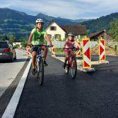 Neuer Radweg in Ludesch beinahe fertig