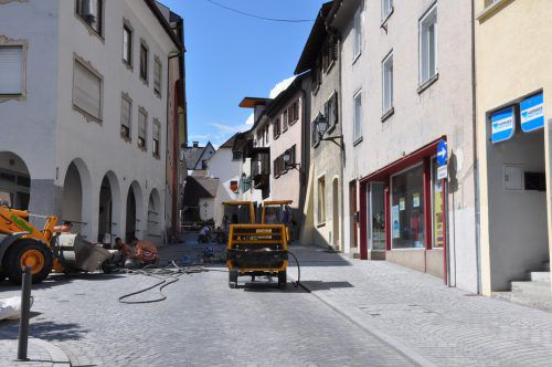 Die Herrengasse muss ab Montag neuerlich wegen Sanierungsarbeiten gesperrt werden.Foto: Stadt Bludenz