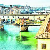 Farbenfrohe Ponte Veccio