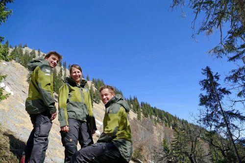 Die Ranger Max, Carola und Florian informieren über die Naturschätze des Naturparks und geben Tourentipps.
