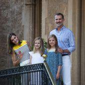 Spanische Königsfamilie kommt ins Schwitzen
