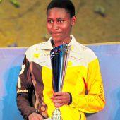 "<p class=""caption"">Die strahlende Siegerin Joyce Njeru aus Kenia.Foto: lech-Zürs</p>"