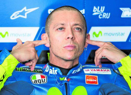 Eckte in Tschechien an: Valentino Rossi.Foto: gepa