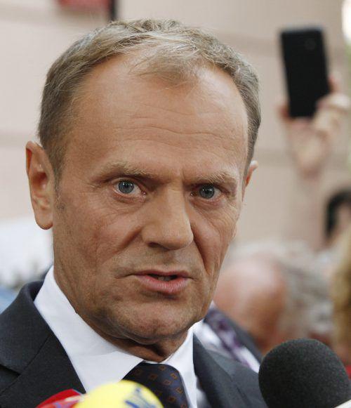 EU-Ratspräsident Donald Tusk liegt mit der PiS im Clinch.  Foto:ap
