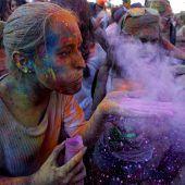 Fest der Farben in Madrid