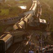 Züge in Ägypten  kollidiert