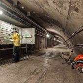 Arbeiten im Tunnel im Soll