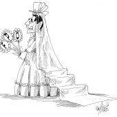 Die geschmückte Braut!