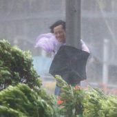 Taifun  wütet in China