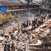 Haus in Mumbai eingestürzt