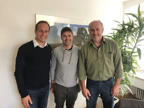 Freuen sich auf das Kriterium in Hohenems: (v. l.) Bürgermeister Dieter Egger, Harald Morscher und OK-Chef Herbert Benzer.Foto: hohenems
