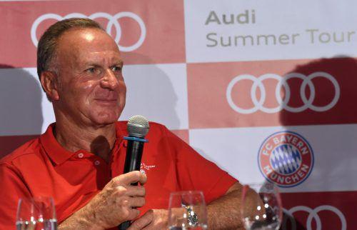 Für Karl-Heinz Rummenigge hat der FC Bayern nun absolut Vorrang.Foto: afp