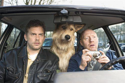 Hund Ludwig ist bei den Ermittlungen mit dabei. Foto: Constantin