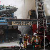 Weltgrößter Fischmarkt in Tokio in Flammen