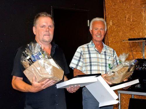 Jürgen Loacker und Egon Moser wurden gleich mehrfach geehrt.