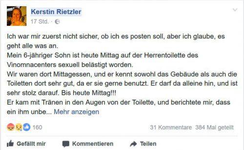 Kerstin Rietzler erregte mit ihrer Mitteilung im facebook viel Aufsehen.