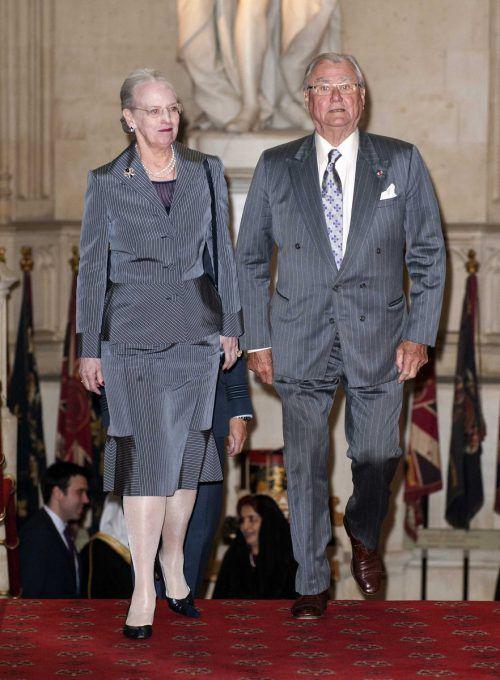 Margarethe und Henrik bei einem gemeinsamen Auftritt im Mai 2012. AP