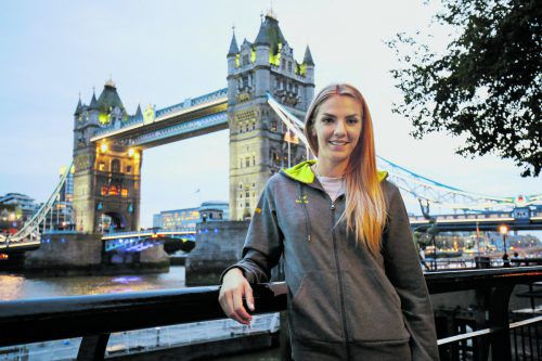 London calling: Siebenkämpferin Ivona Dadic. Foto: gepa