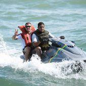 Podolski zum Flüchtling gemacht