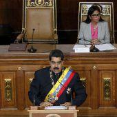 """<p class=""""caption"""">Maduro hielt eine Rede vor der Verfassungsversammlung. AP</p>"""