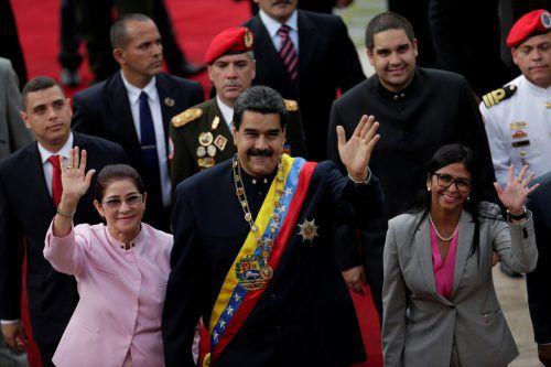 Maduro hielt eine Rede vor der Verfassungsversammlung. AP