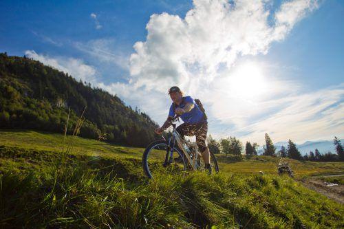 Mit dem Rad über Stock und Stein, das macht Spaß. Foto: VN