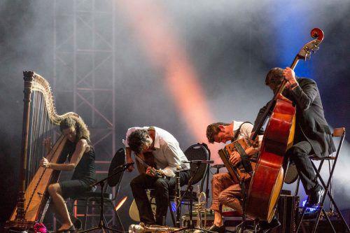 Musikalisches Feuerwerk des spielfreudigen Quartetts.foto: band