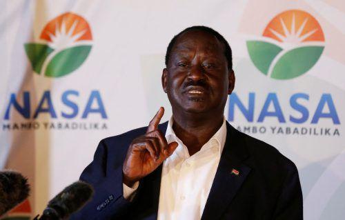 Präsidentschaftskandidat Odinga erhebt schwere Vorwürfe. reuters
