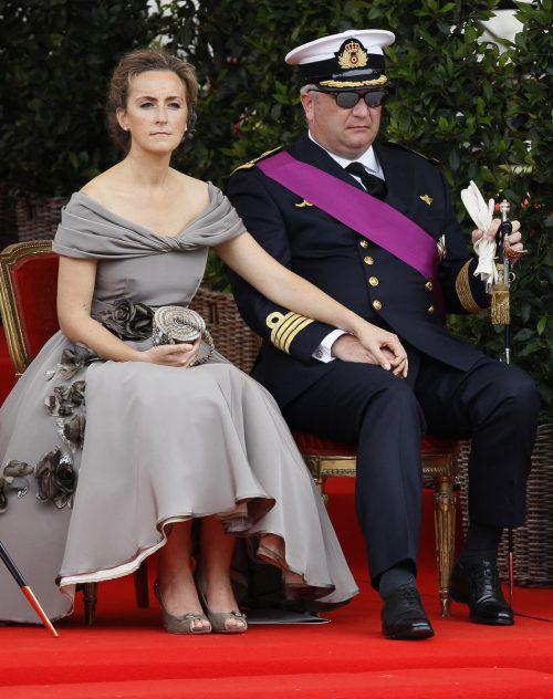 Prinz Laurent mit seiner Frau Prinzessin Claire. Foto: Reuters