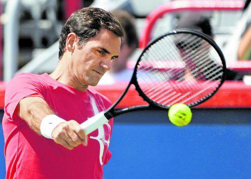 """Roger Federer nützt seine gute Form: """"Ich fühle mich nach dem Urlaub physisch und spielerisch sehr gut.""""Foto: ap"""