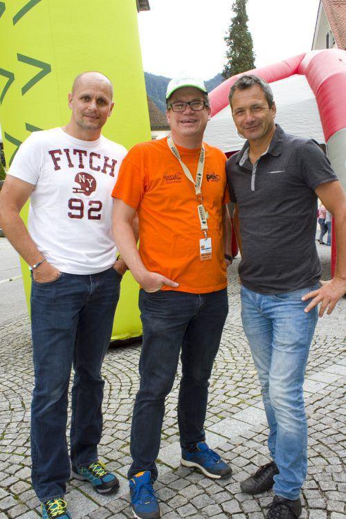 Sebastian Manhart (l.), Dieter Heidegger und Michael Zangerl.