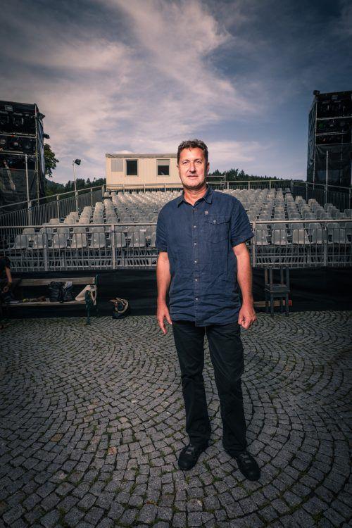 """Sepp Gröfler spielt die Titelrolle in """"Jägerstätter"""" von Felix Mitterer bei der Basilia Rankweil. Premiere ist am 18. August.Foto:Sams"""