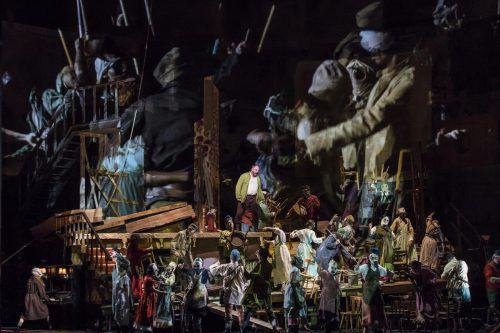 """Szene aus der neuen """"Wozzeck""""-Produktion im Haus für Mozart in Salzburg.Foto: APA"""
