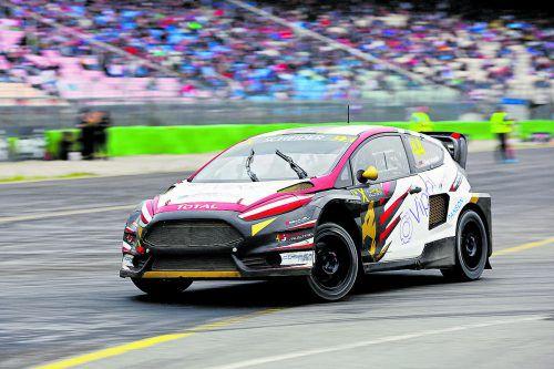 Timo Scheider hält sich immer noch tapfer in den Top Ten der Rallycross-Weltmeisterschaft. Foto: FIA-WRX