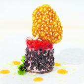 Erdbeerterrine mit Felchenkaviar